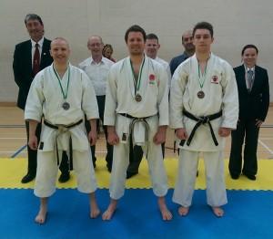 Men's Senior Kata.  Adam winning Gold.