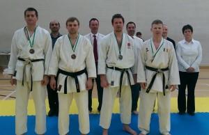 Men's Senior Kumite.  Adam winning Silver.